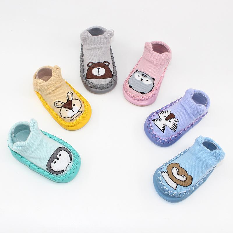 0-24 개월 유아 아기 소년 소녀 신발 실내 만화 신발 소프트 하단 미끄럼 방지 바닥 첫 번째 워커