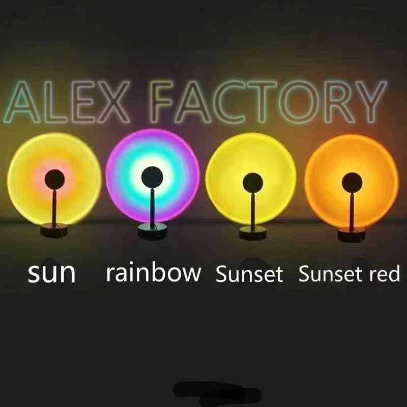 Sunset light furniture Novelty Items accessories rainbow projection red live broadcast atmosphere photography net sun never setting-light home decoration