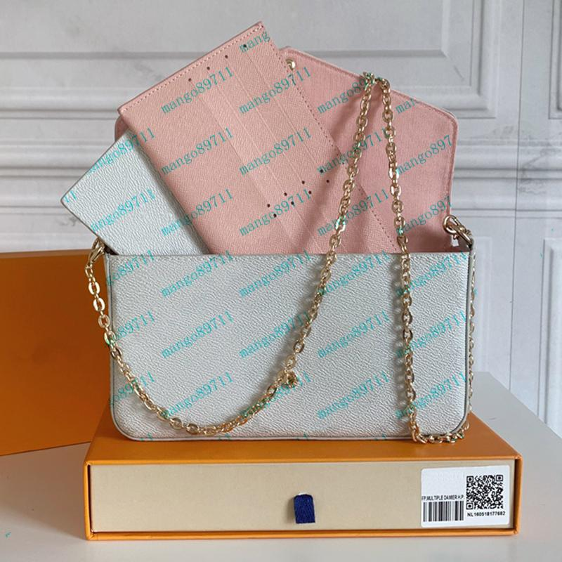 여자 totes 가방 핸드백 지갑 원래 상자 날짜 코드 패션 숄더 가방 도매 체커 격자 무늬 꽃 지갑