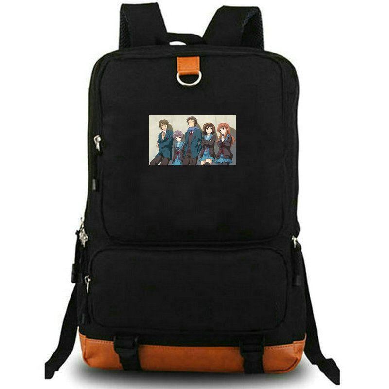 Suzumiya backpack The Disappearance of Haruhi day pack cartoon school bag Anime packsack rucksack Sport schoolbag Outdoor daypack