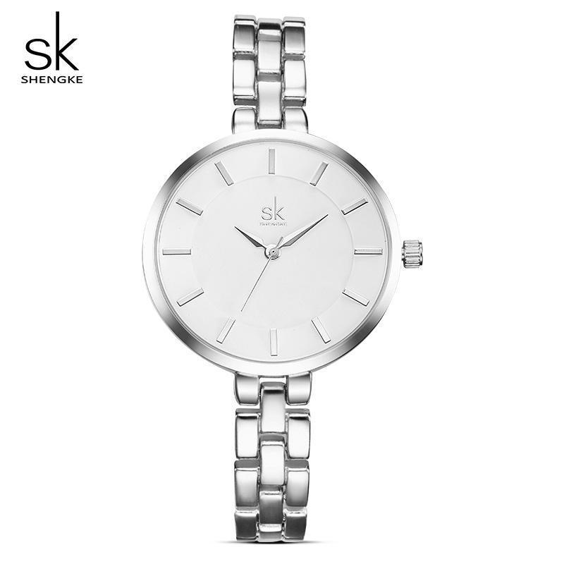 Shengke Frauen Armbanduhr Armbanduhren Damenuhr Relogio Feminino 2021 Top Quarz # K0009 Armbanduhren