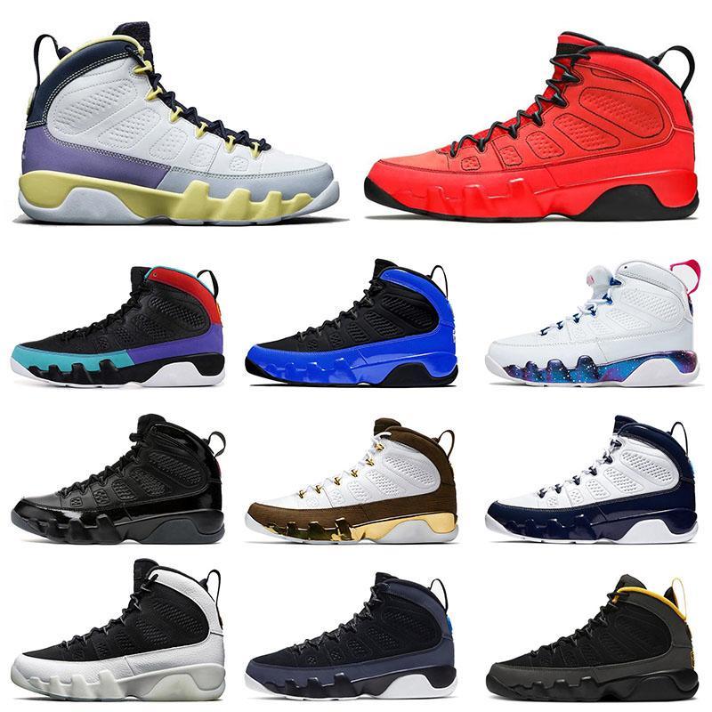 nike air jordan retro 9 jumpman Aj jordans 9s Des Chaussures de basket-ball pour hommes Cactus Flower University Gold Gym Red UNC Dream it do it  Hommes Baskets Taille 7-13