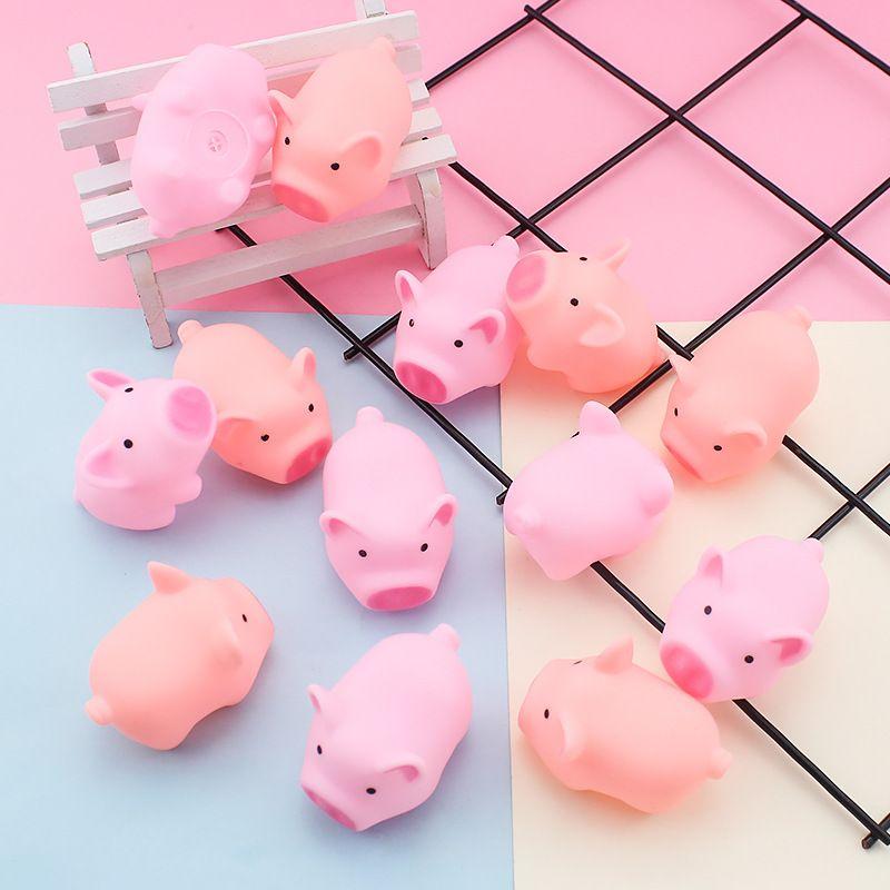 Ventilación de música red rojo mismo amasado llamado lindo cerdo mengbao mini juguete pink piglet