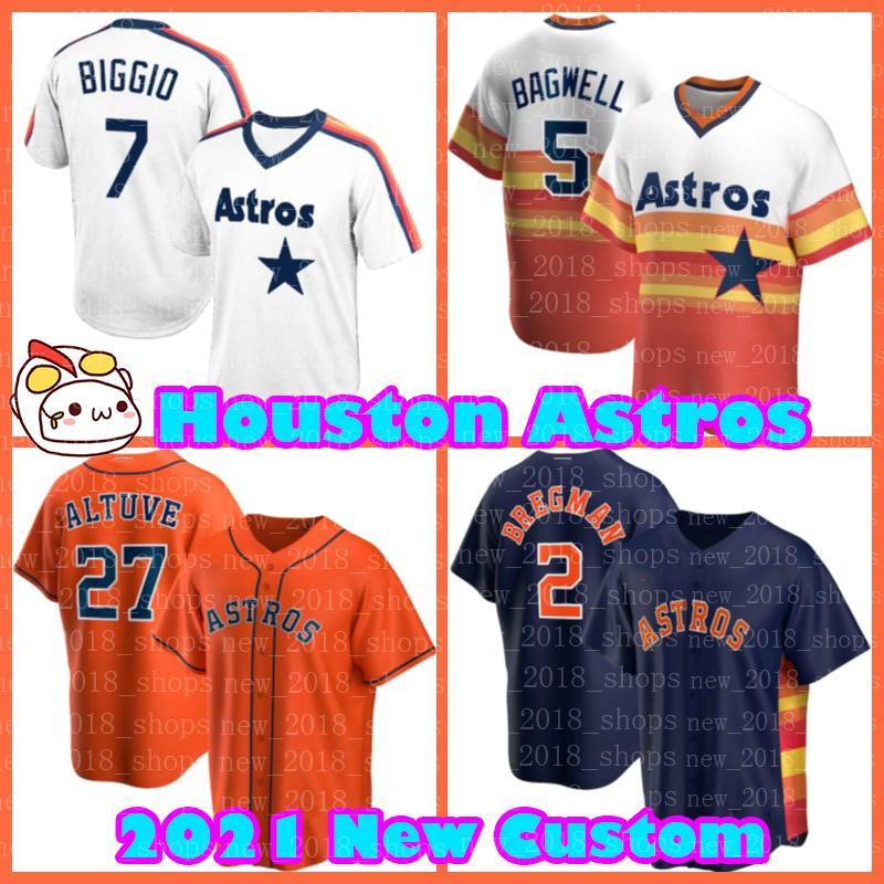 Houston Jose Alstuve Astros jerseys Alex Bregman Justin Verlander 1 Carlos Correa 44 Yordan Alvarez Jeff Bagwell Basebol Bryan Abreu Nolan Ryan Homens Kyle Tucker Jerse