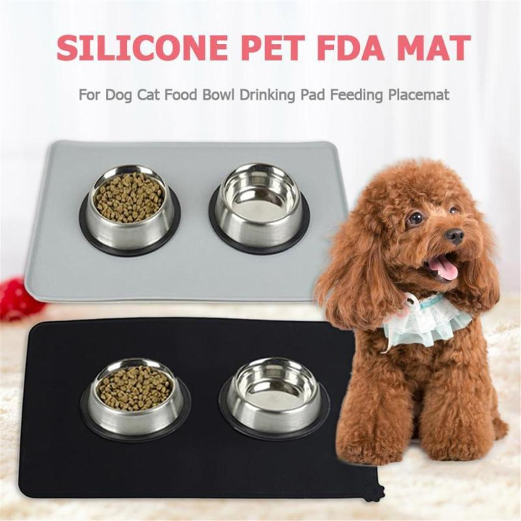 Dog food carpet pet dog cat food mat waterproof dog food table cloth
