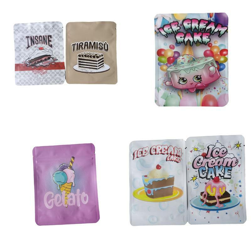 Gelo Bolo Edibles Bolsa de Zíper 7 Bolsas De Embalagem ExoticX Embalagem De Carro Gummies 420 Mylar Saco Resealable 3.5 Gram Deodorant Polyester Foil Jllulx