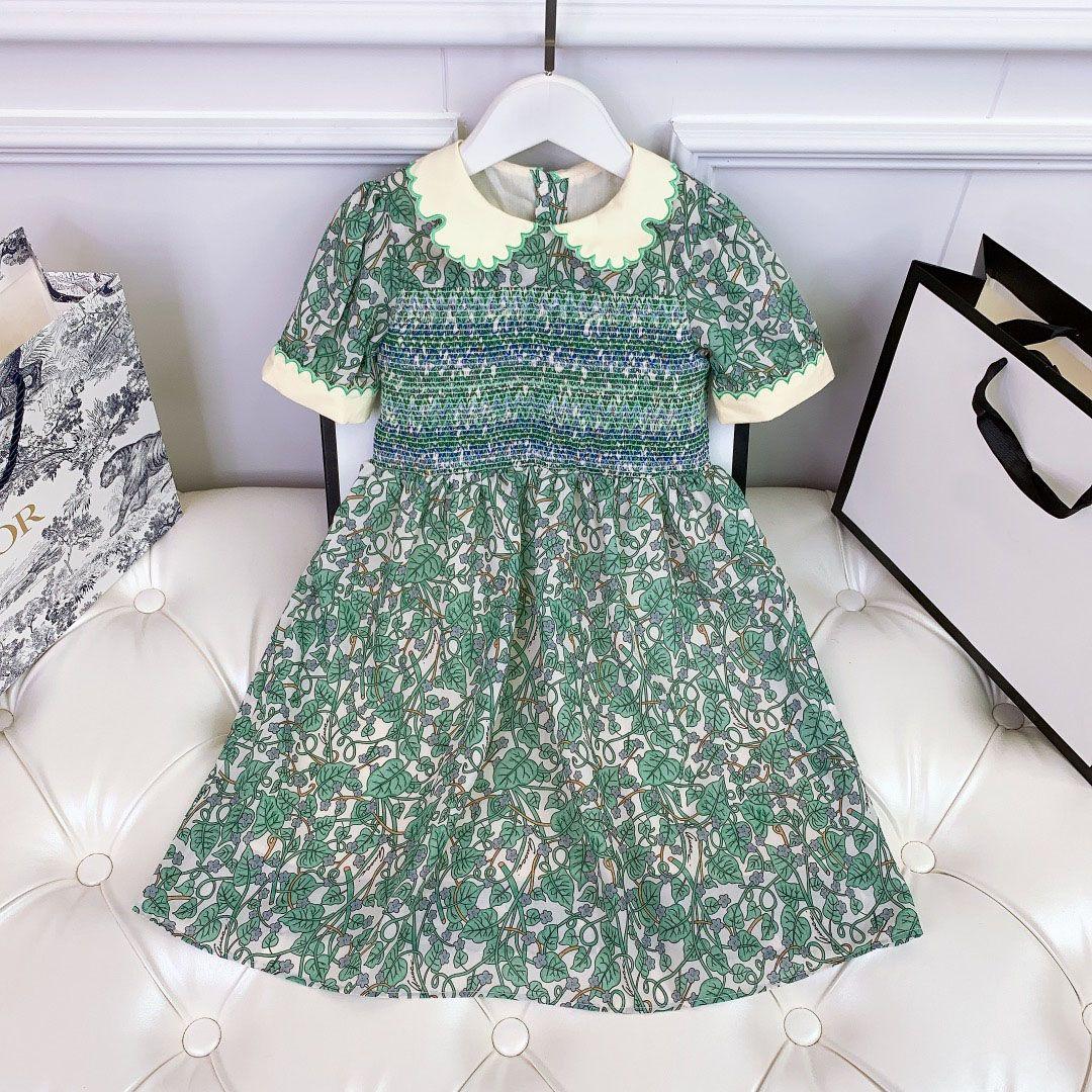 Kızlar Çiçek Elbiseleri Marka Tasarımcısı Kız Etek Tavuskuşu Renk Boyutu 100-150