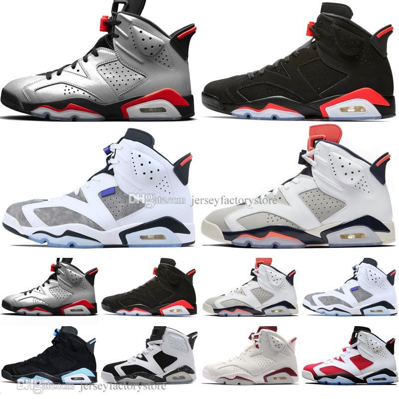2019 infravermelho criado 6 6s homens sapatos de basquete 3m bugs reflexivos coelho tinker hatfield un Unc oreo homens esportes sneakers trainers US7-13