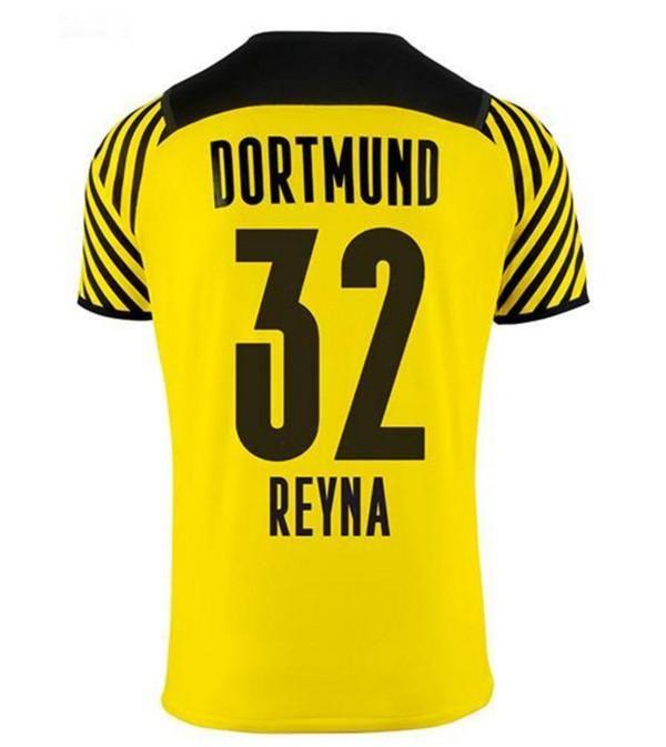 22 22 Borussia 홈 멀리 Haaland Reus Dortmund 축구 유니폼 특별 2021 2022 축구 셔츠 브랜드 Plszczek Reyna 노란색 검은 색 키트 남자 아이들이 유니폼을 설정합니다