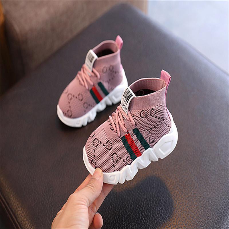 Оптом девушка дети вскользь розовый кроссовки обувь ребенок мальчик младенца младенческая антислип мягкий нижний khaki желтый спорт нескользящая шнуровка обувь дети девушки мальчики кроссовки ymx-08