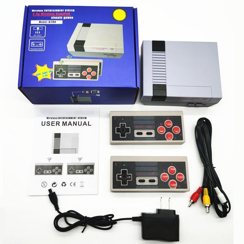 Nostalgic host Mini Wireless Video Game Console Can Store 620 Classic Games 2.4G Retro Double Battle TV Handheld Portable