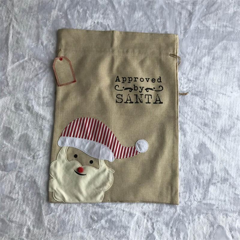 Décorations de Noël 50 * 70cm Sacs-cadeaux de Noël de Noël Ping'an Drawing Drawstring Sac Sac Fournitures 831 B3