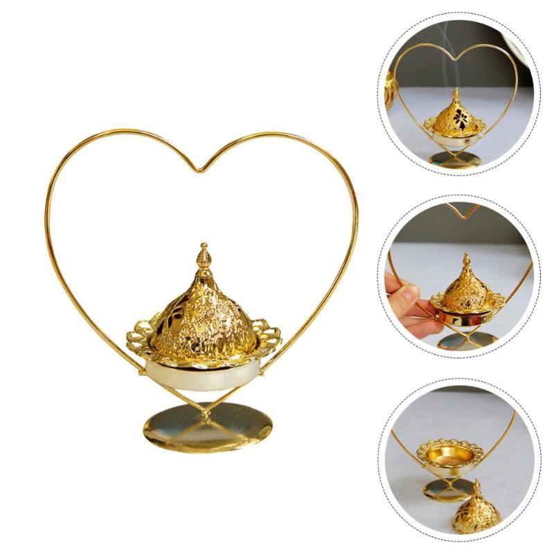 1PC 크리 에이 티브 촛대 가정용 아로마 스토브 향 버너 장식 (황금) 향수 램프