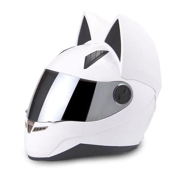 Motorradhelme Nitrinos Helm Männer Frauen Persönlichkeit Moto Capacete de White Full Face Racing Casco