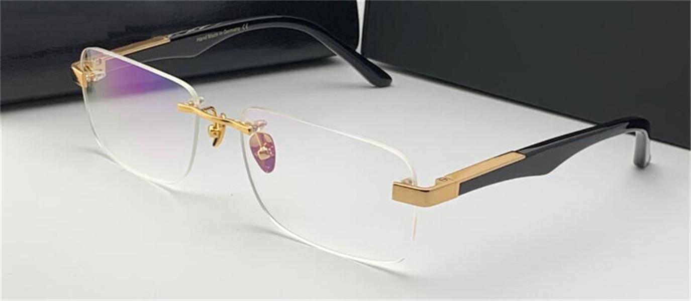 패션 처방 안경 예술가 내가 무한 프레임 맑은 다리 광학 안경 투명한 렌즈 간단한 비즈니스 스타일을 가진 남자