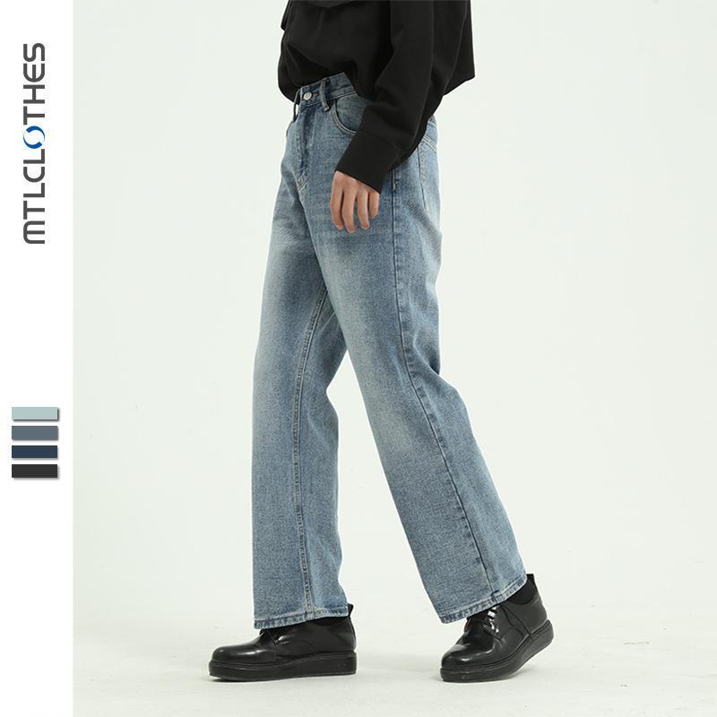 MTL hombres | 4 Color Coreano Straight Jeans Pantalones casuales sueltos de los hombres tendencia