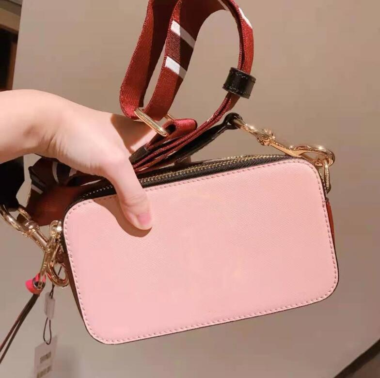 여러 가지 빛깔의 카메라 가방 디자이너 핸드백 여성 넓은 어깨 끈 어깨 가방 최고 품질의 지갑 브랜드 크로스 바디 플랩