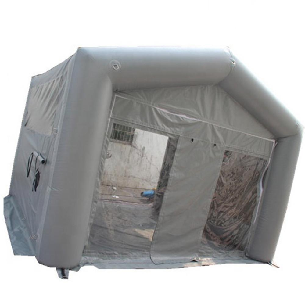 7x5m customized oxford tent inflatable car wash mobile garage cover Automotive Paint Booth workshop with blower