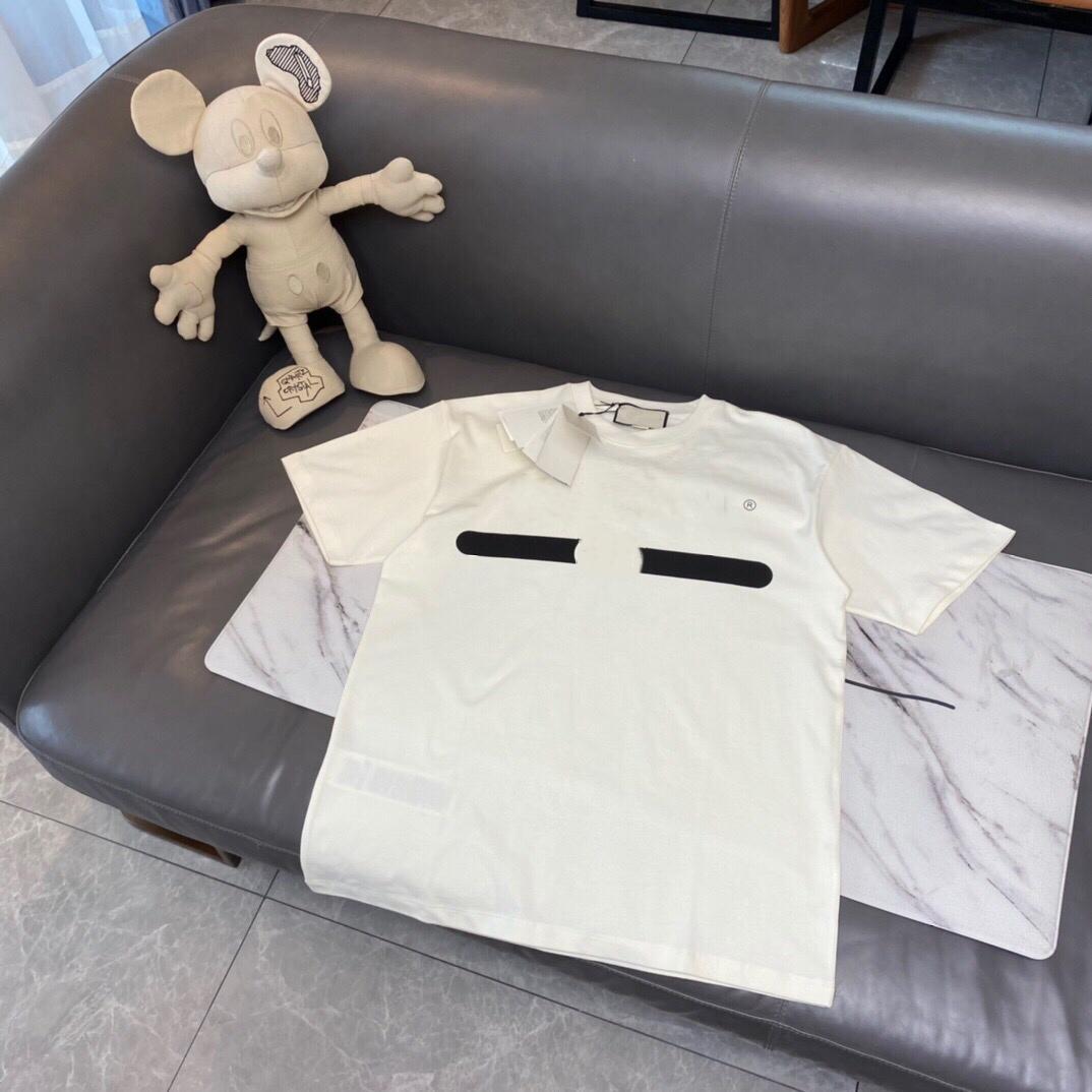 2021SS 인쇄 티 여름 패션 고품질 베이지 색 검정색 면화 남성 여성 캐주얼 스트리트 티셔츠 통기성 크루 목 HFLSTX40
