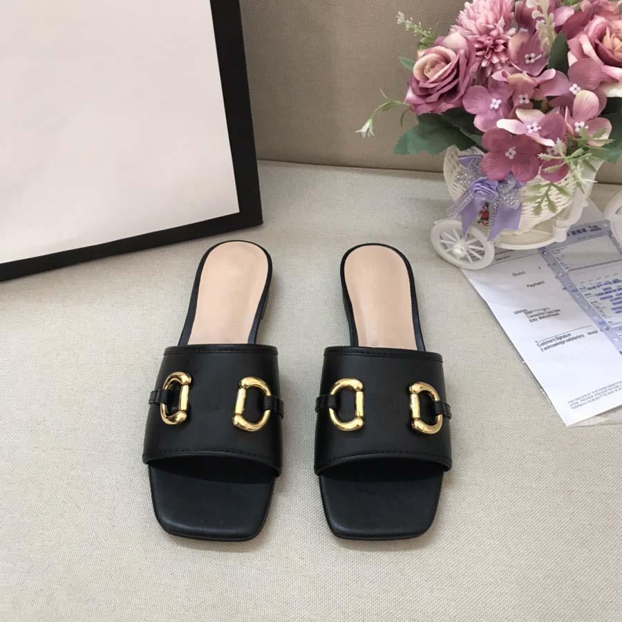 Moda Mulheres Sangres Sandálias Slides Summer Sexy Real Couro Plataforma Flats Sapatos Senhoras Praia Chinelos Home011 35