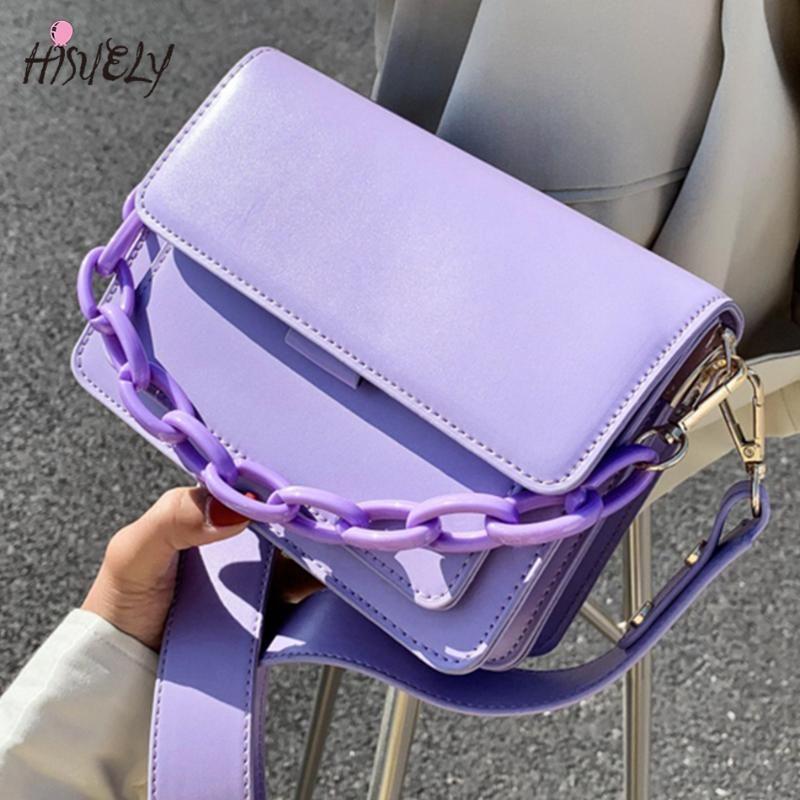 Sacos de noite luz cores mini flap saco feminino moda cadeia crossbody pu ombro de couro para mulheres 2021 menina bolsa roxa