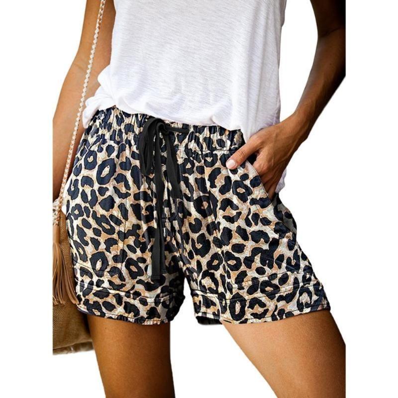 Fashion Leopard Print Women Shorts Casual Fitness Short For Lady High Waist Biker Women's