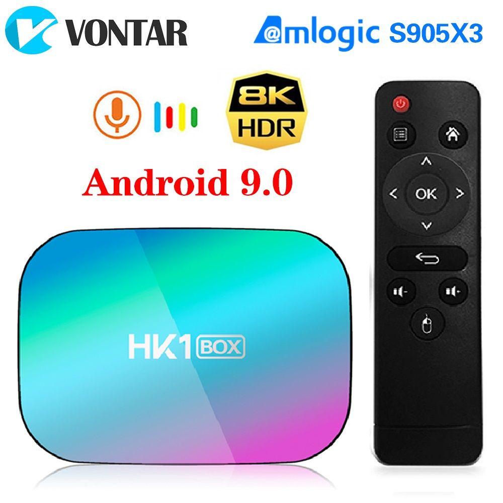 VONTAR HK1 BOX 8K 4GB 128GB TV Box Android 9 Amlogic S905X3 Android 9.0 1000M Wifi 4K Set top box
