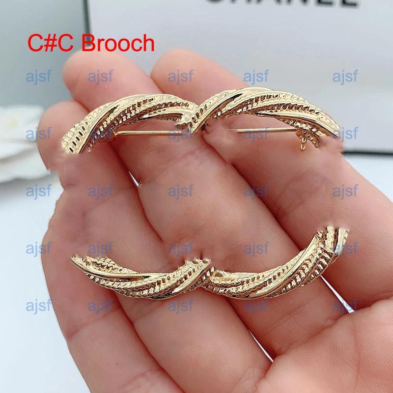 Broche de haute qualité Broche de luxe Lettre de luxe Broches Broches Perle Broches Mode Bijoux de mode Cristal de mode