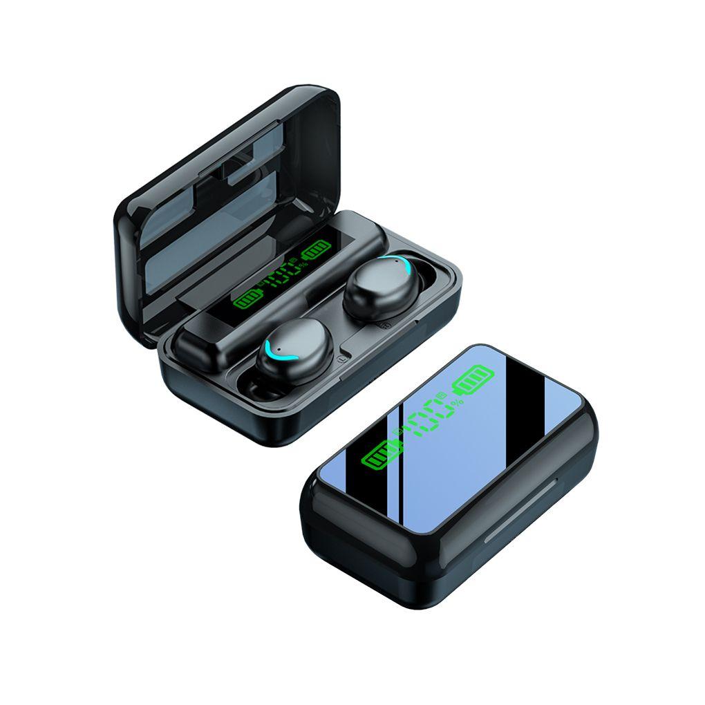 R11 TWS espelho sem fio fone de ouvido 5.0 mini fone de ouvido F9 Bluetooth com fone de ouvido de exibição LED
