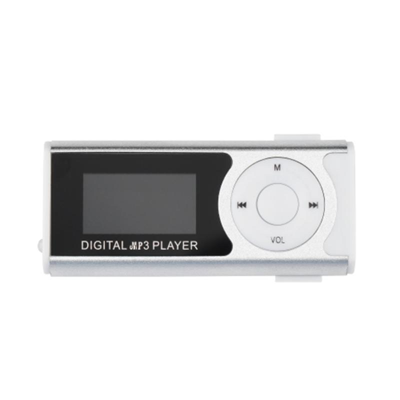 & MP4 Players Mini USB Clip MP3 Media Player LCD Screen Support 16GB TF LED Light Exquisitely Designed Durable