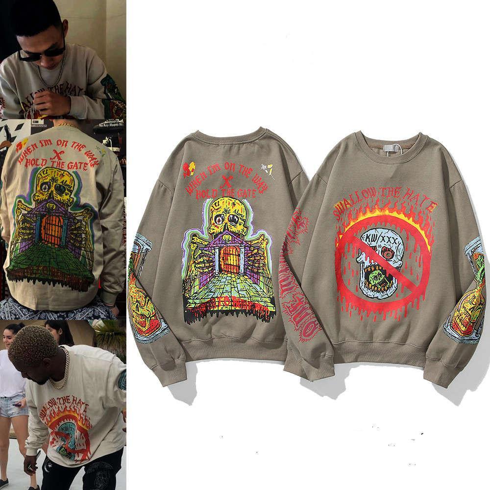 Hohe Qualität 1: 1 Hoodie 20SS Mode Marke Herren- und Damen Hip Hop derselben Buchstaben Trend Graffiti Langarm Pullover