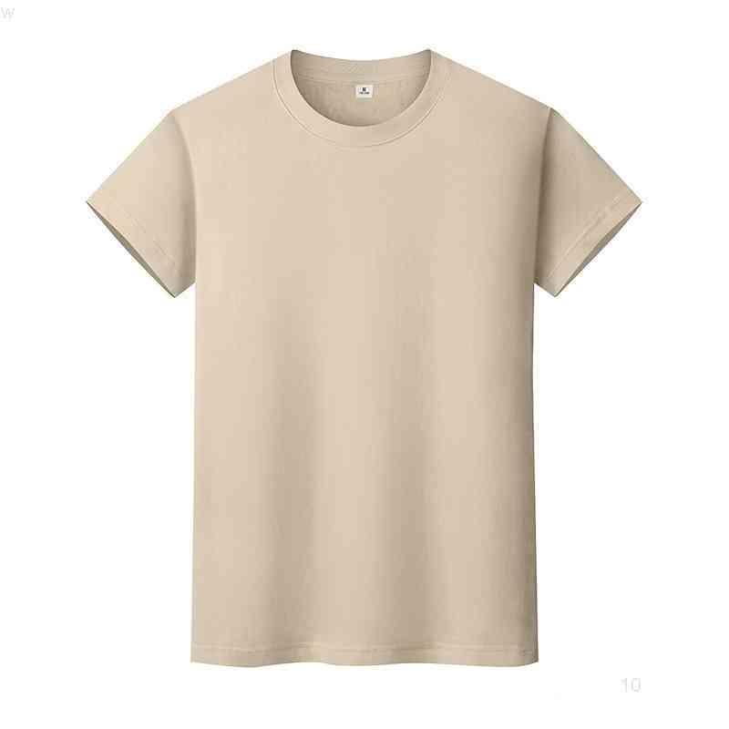 NUEVO Cuello redondo Color Sólido Camiseta de algodón de verano Camisa de fondo de manga corta para hombre y mujeres de manga corta 9rq7io