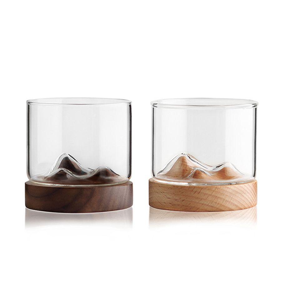 산 목조 기본 가정용 일본식 열 저항 차 찻잔 보드카 와인 컵 바 클럽 Drinkware와 위스키 유리 크리 에이 티브 작은 맥주 안경