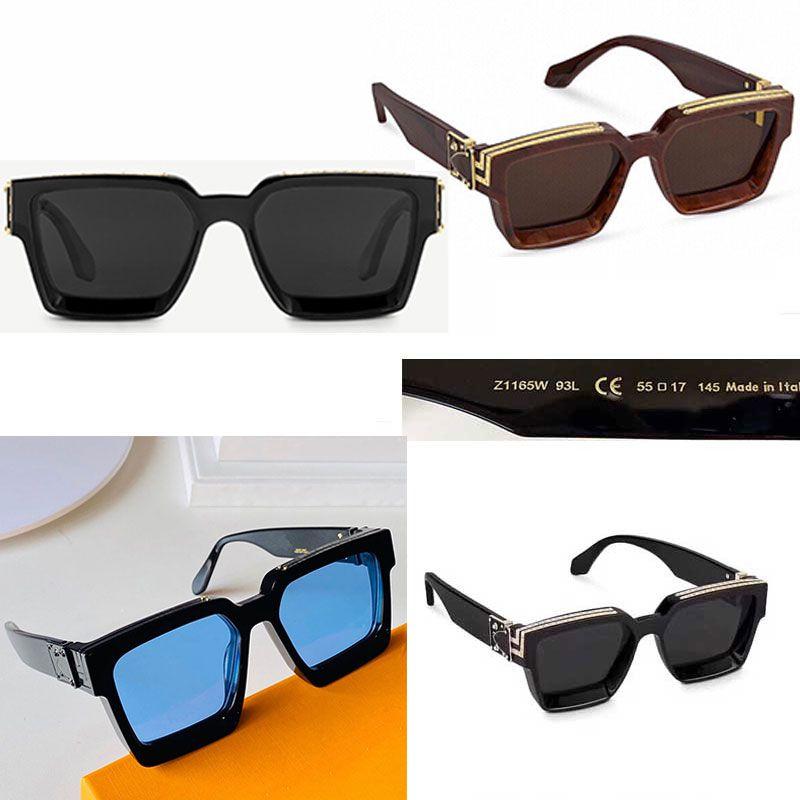 2021 الرسمي أحدث لون M96006WN الأزياء النظارات الشمسية المليونير الإطار مربع جودة عالية الكلاسيكية النظارات الزخرفية الرجعية 1165W موقف المعبد دون ج