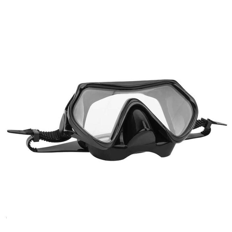 Adulte plongée plongée sous-marine masque de plongée de plongée sous-marins verres trempé lentille vue de la natation googles plongée masque équipement de natation