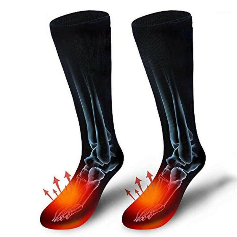 الجوارب الكهربائية الساخنة مع حالة البطارية القطن الشتاء ساخنة النساء الجوارب التزلج أقدام الدراجات الكهربائية للرجال دفئا outdoo r3f31
