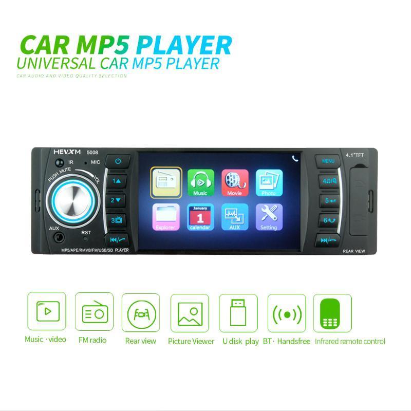 Video de automóvil Universal Autoradio 1 DIN 4 pulgadas Radio 1din estéreo MP3 MP5 MP5 Multimedia Player AUTO AUDIO BLUETOOTH FM Pantalla capacitiva