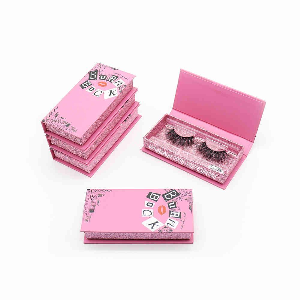 Burn Book Leere Box Lashwoods Case KOSTENLOSE Plastikschale Großhandel Mink ES Custom Wimpernverpackung