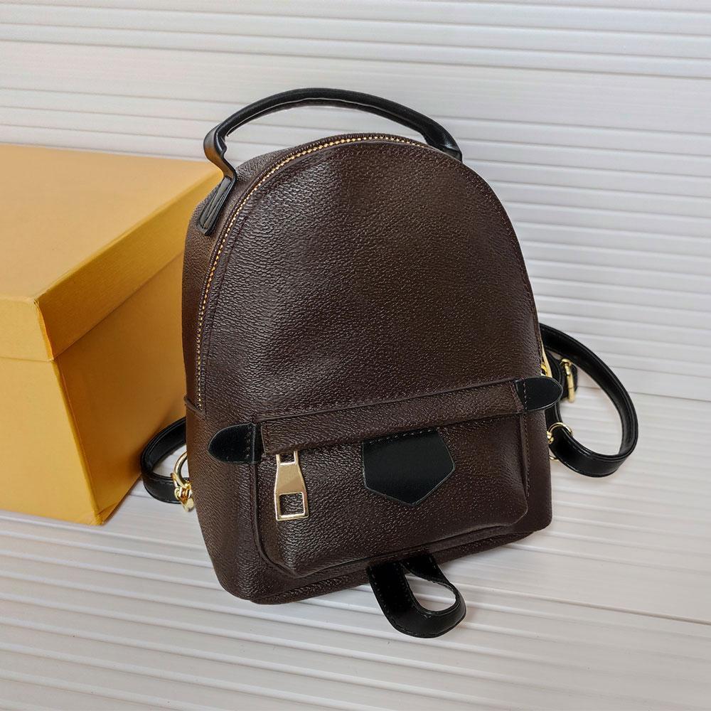 Top Quality Paris Womans Backpack Borse Borse Borse Lady Designer Crossbody Bag Growbody Vecchio fiore Moda Borsa a mano Portafogli High-end PU in pelle di lusso in pelle di lusso Zaini marrone plaid