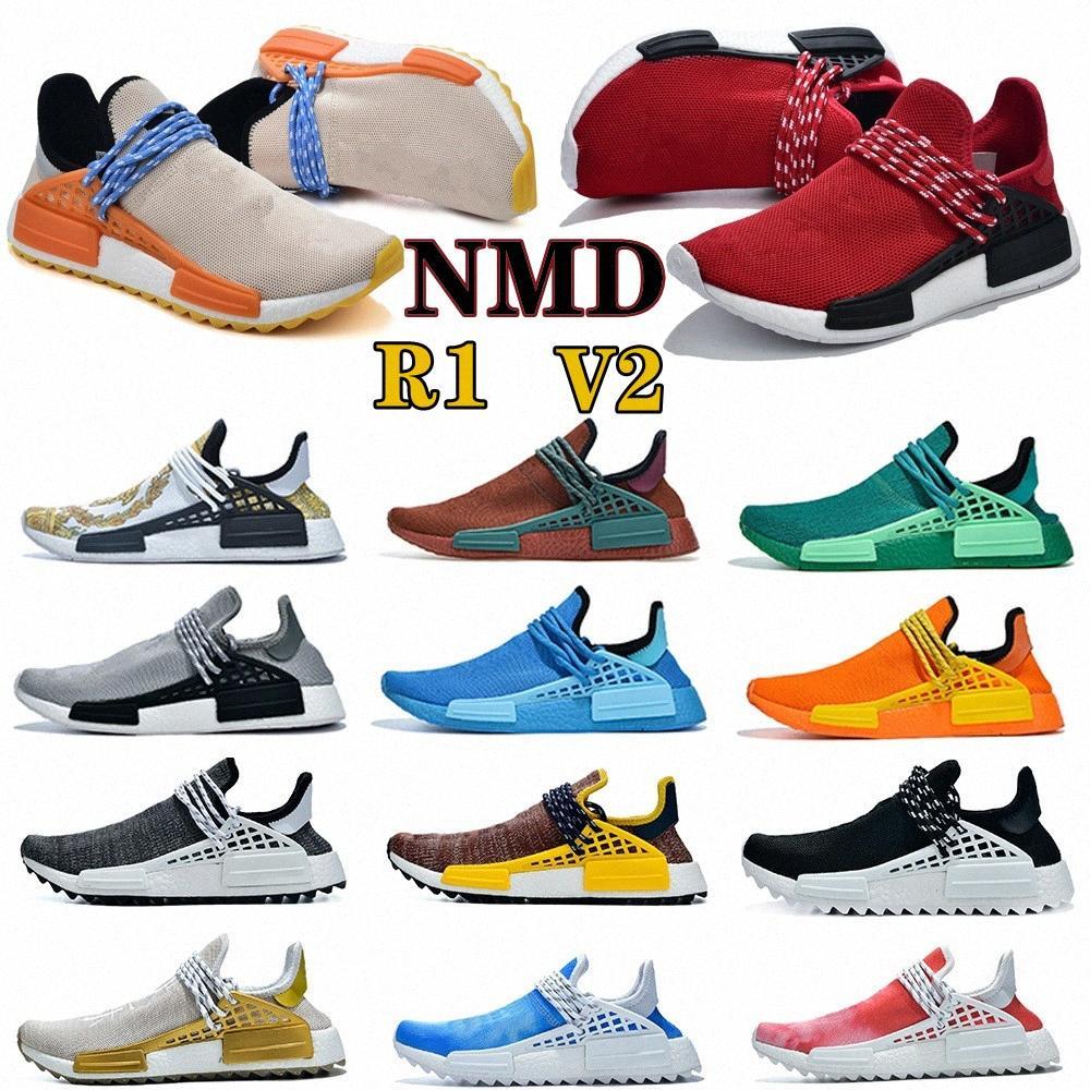 NMD R1 V2 Menschliche Rasse Herren Frauen Laufschuhe Triple White Oreo Solar Pack Gelb Blau Nerd Herz Geist Sport PW Outdoor Sneakers