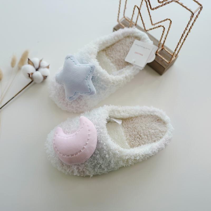 Mujer invierno casa zapatillas de dibujos animados gato zapatos antideslizante suave cálido casa interior dormitorio amantes parejas piso