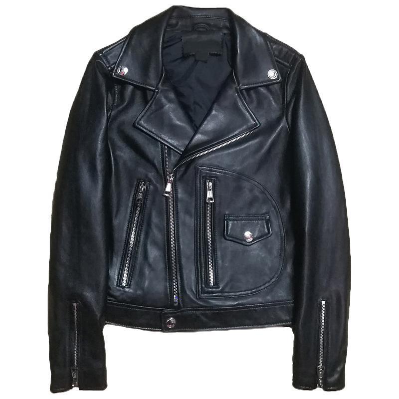 Women's Leather & Faux 2021 Plus Size Spring Real Sheep Jaacket Women Genuine Jacket Fashion Lady Blazer