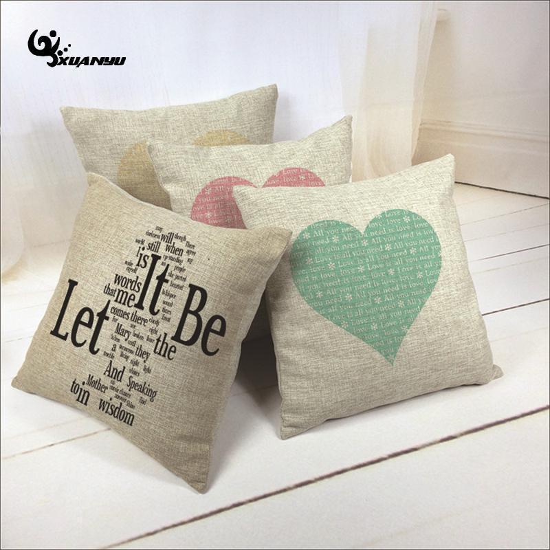 Квадратная подушка крышки в форме сердца наволочка наволочка наволочка для дивана дома украшения подушки / декоративное