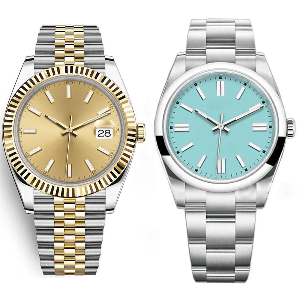 Hombres de gama alta de 41 mm Calidad Reloj de moda deportes Movimiento automático de negocios Luminoso 316L Acero inoxidable impermeable Fecha de buceo Hombres Mujeres 36mm Relojes de lujo