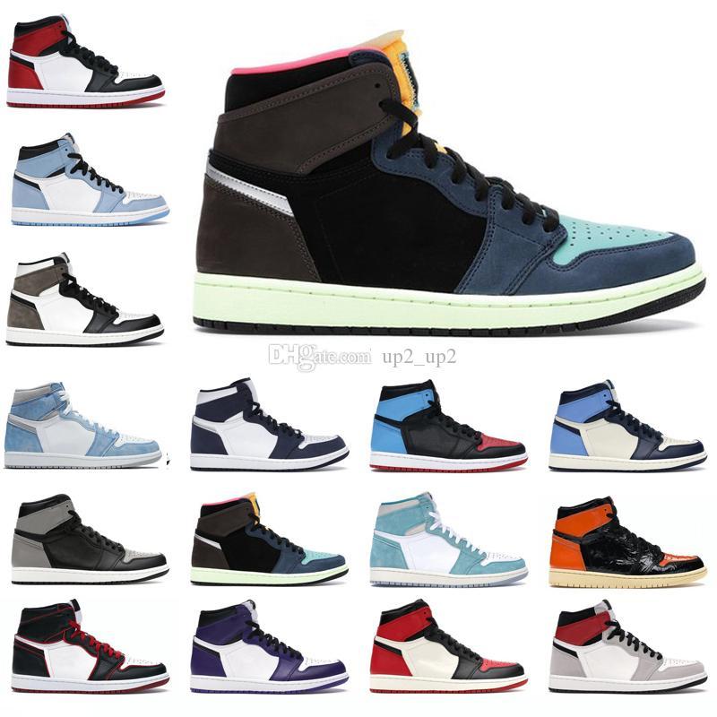 Erkekler Kadınlar Açık Ayakkabı 1s Yüksek OG Jumpman 1 Hyper Kraliyet Obsidiyen Bred Karanlık Mocha Üniversitesi Mavi Işık Duman Gri Erkek Eğitmenler Sneakers