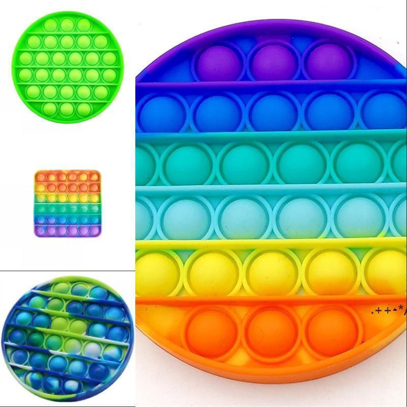 Pops it fazit toys spielzeug silikon tie-farbe noctilucent spielzeug blase autismus ängstlich stress reliever dekompression plüsch spielzeug fwb6044