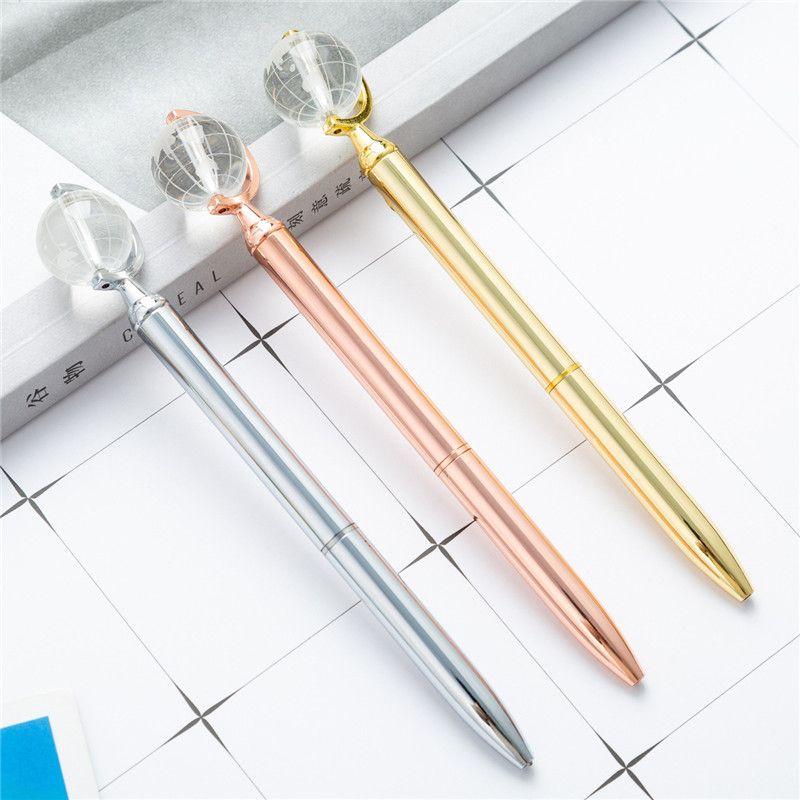 الإبداعي غلوب النمذجة المعادن القلم طالب المعلم الكتابة أقلام حبر بوينت مكتب الضغط هدية