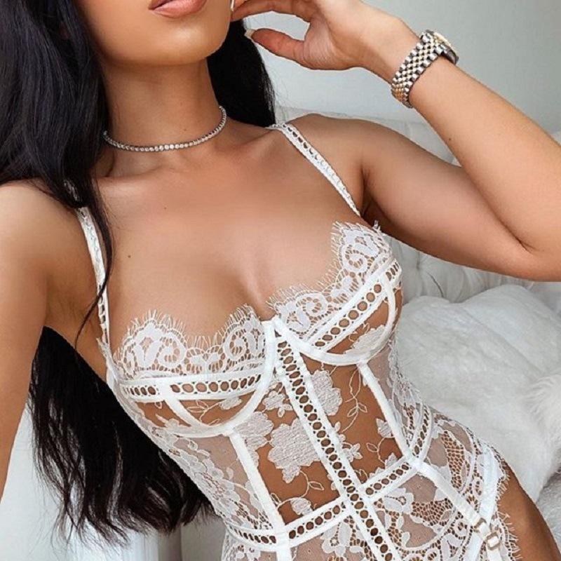 Pijamas femininos lingerie erótica pornô sexy trajes sensual mulher roupas rendas splicing hollow strap underwear conjunto exótico conjuntos de bras