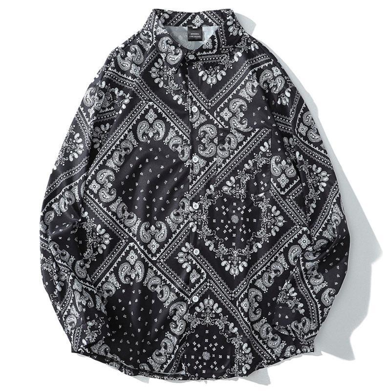 봄과 가을 셔츠 남성 캐주얼 긴 소매 고품질 의류 싱글 브레스트 셔츠