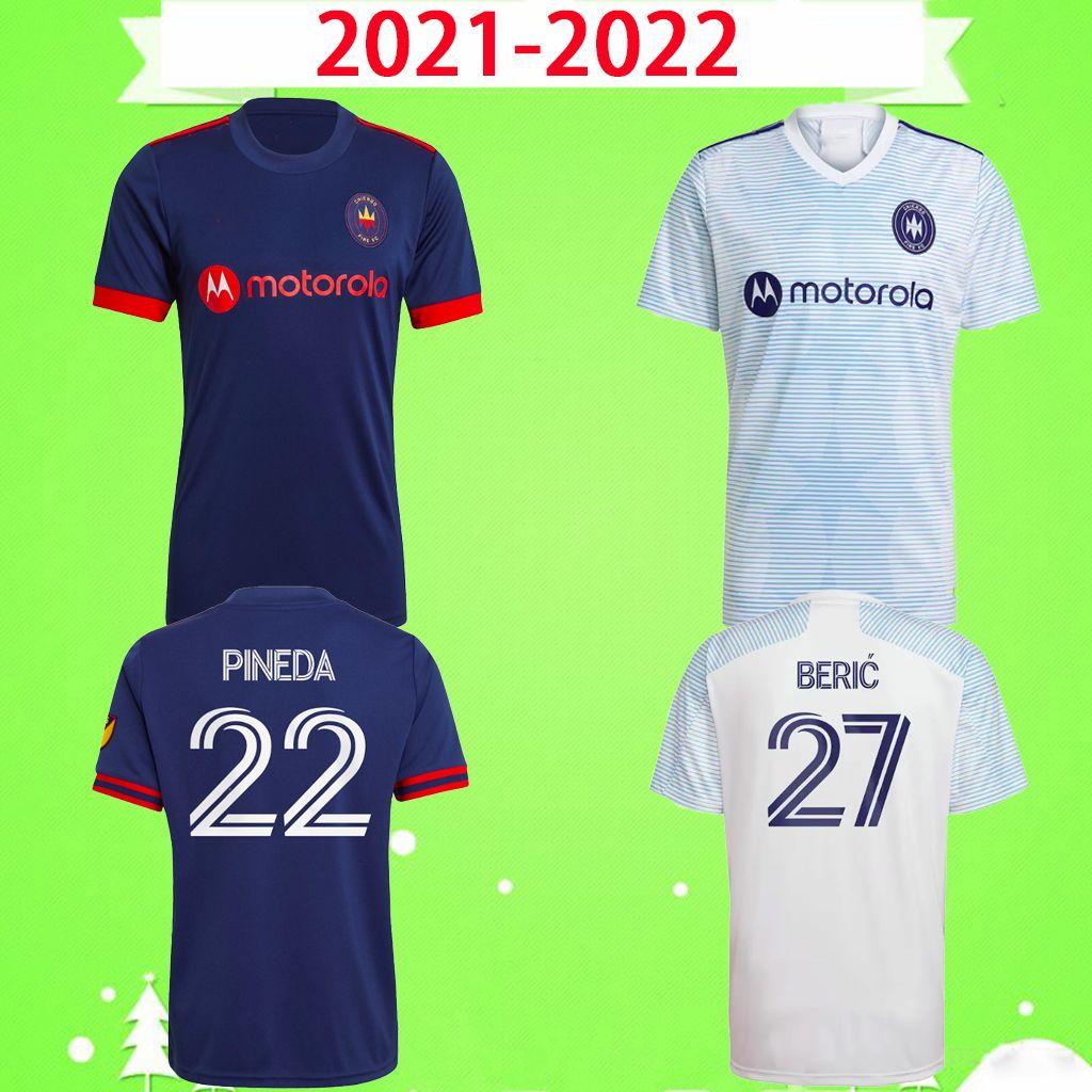 Acquista 2021 2022 Chicago Maglie Da Calcio Fire FC Home Away Blu Bianco MLS 21 22 PINEDA BERIC MEDRAN SAPONG FRANKOWSKI CALVO Maglie Da Calcio Alta ...
